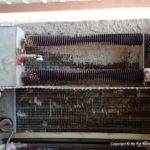 RV Air Conditioner Evaporator Coil Dirty