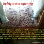 RV Refrigerator Mud Dauber Insect Damage