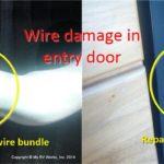 RV Entry Door wiring damage and repair